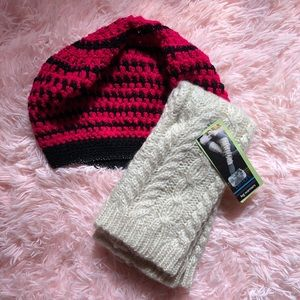 Slouchy hat and leg warmer set